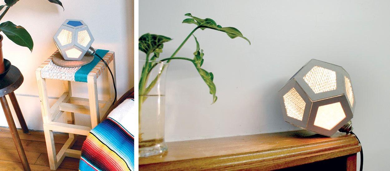 diy pour fabriquer une lampe avec du carton lampe originale et pas ch re. Black Bedroom Furniture Sets. Home Design Ideas