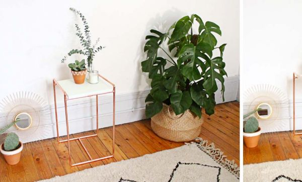 Tuto : Fabriquez une jolie table d'appoint en tuyaux de cuivre