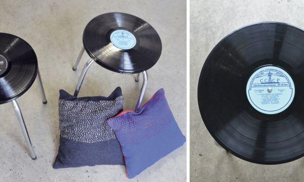 Tuto : Fabriquez un tabouret vinyle très tendance pour une poignée d'euros