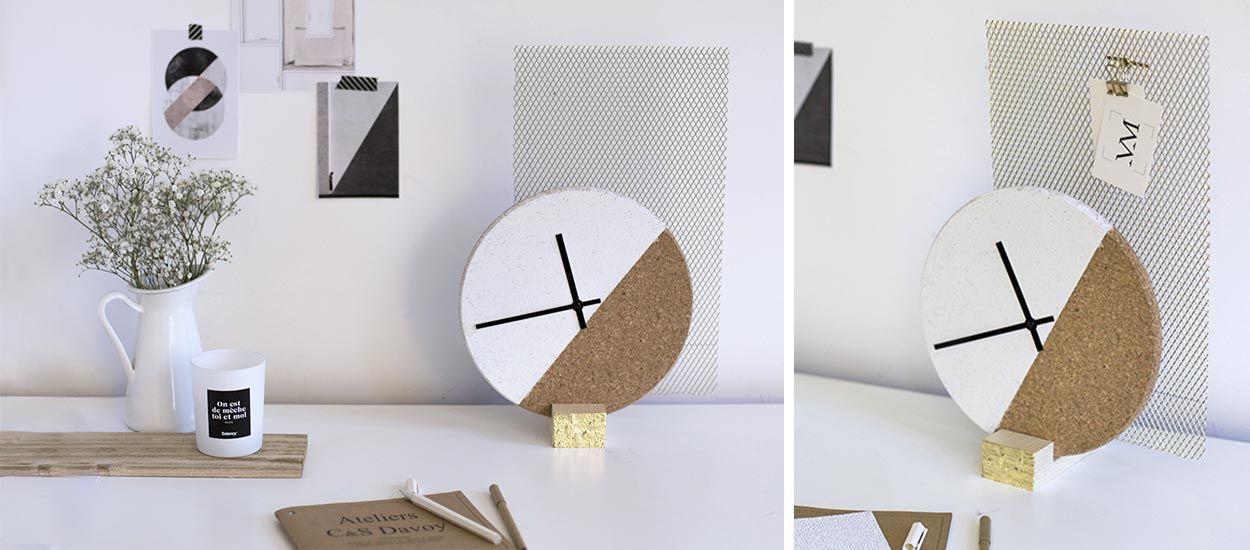 diy pour fabriquer une horloge originale horloge design. Black Bedroom Furniture Sets. Home Design Ideas
