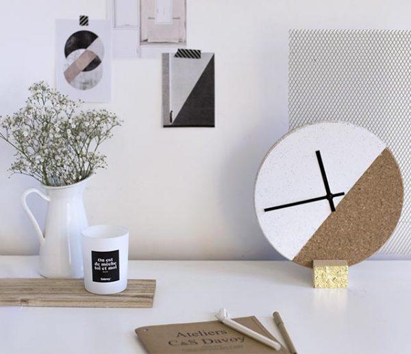 Tuto : Fabriquez une horloge en liège chic et graphique