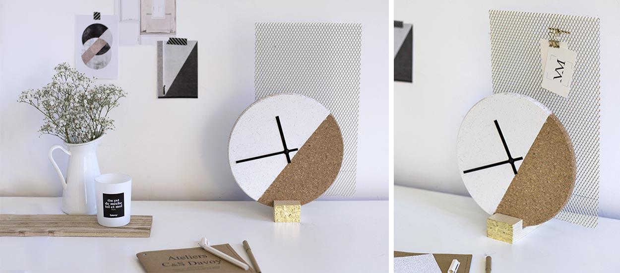 Diy pour fabriquer une horloge originale horloge design for Castorama horloge