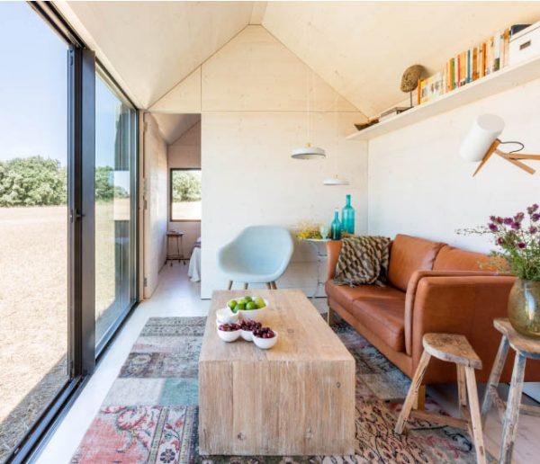Découvrez le style minimaliste et chaleureux de cette mini-maison