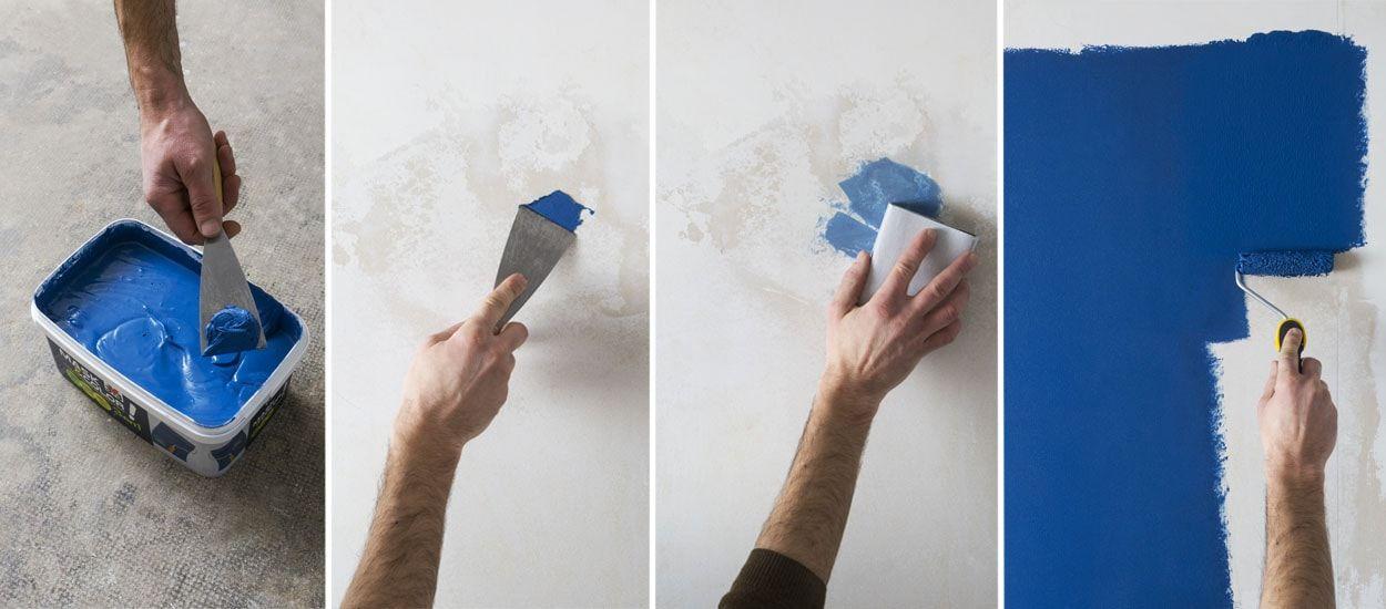 une peinture sans sous couche qui sert aussi d enduit de rebouchage mask color v33. Black Bedroom Furniture Sets. Home Design Ideas