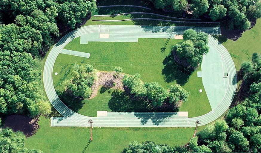 La piste d'athlétisme Tussols Basil (2000), à Olot, en Espagne.