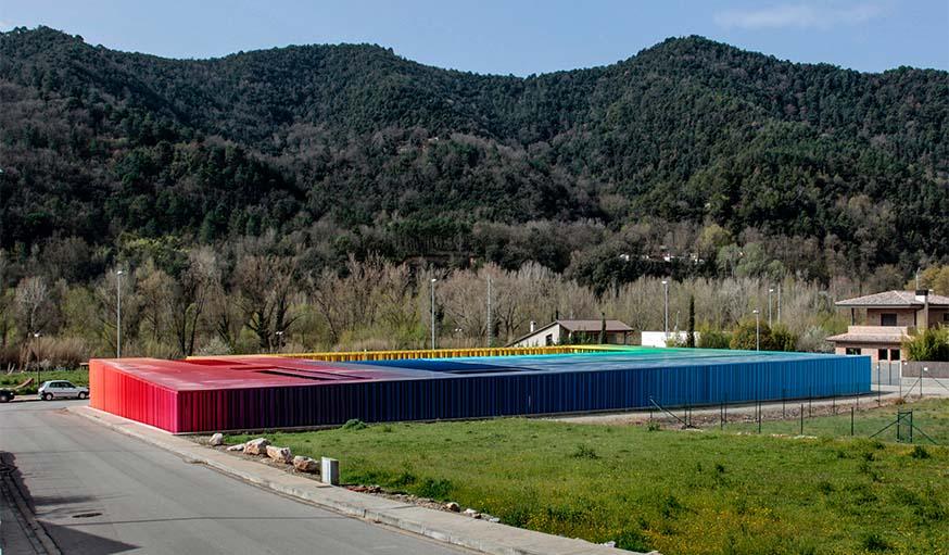 Le jardin d'enfants El Petit Comte (2010) à Besalu, en Espagne, en collaboration avec Joan Puigcorbé.