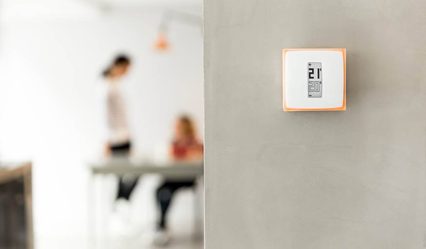 Le thermostat connecté Netatmo.