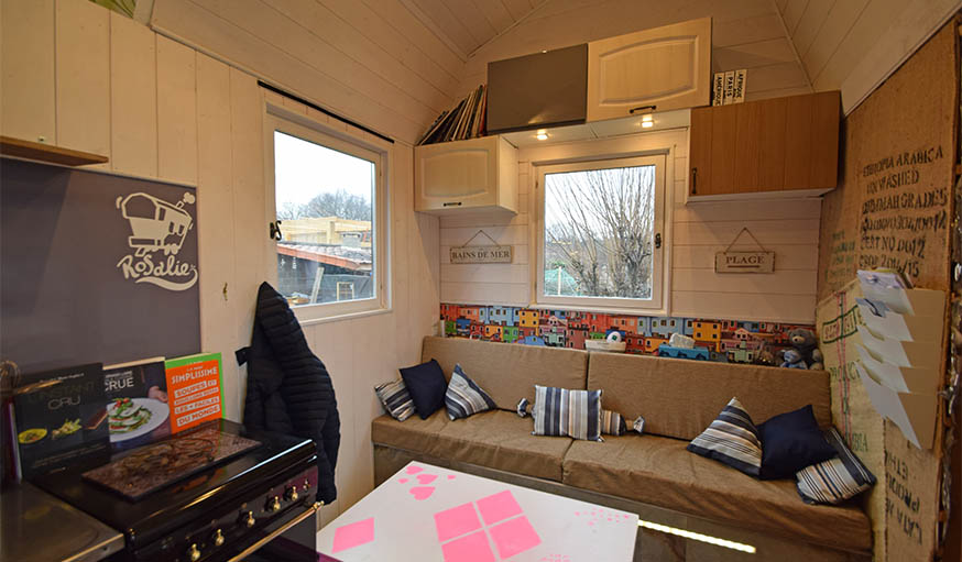 Le salon de la tiny house.