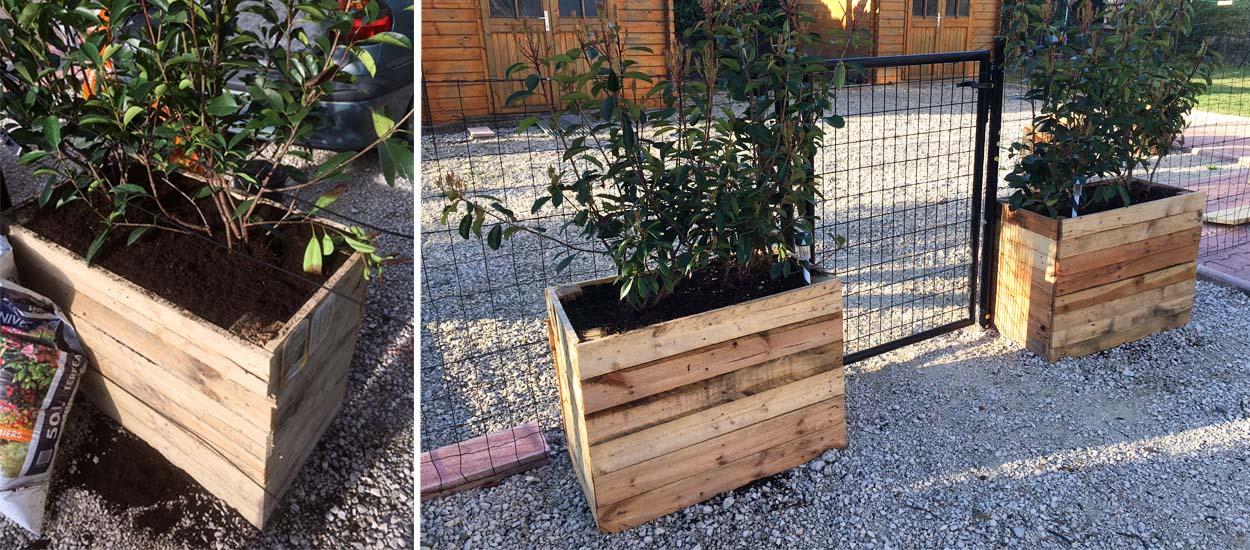 diy fabriquer un bac fleurs en palette tuto pour une jardini re r cup. Black Bedroom Furniture Sets. Home Design Ideas
