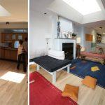 L'appartement avant et après les travaux.