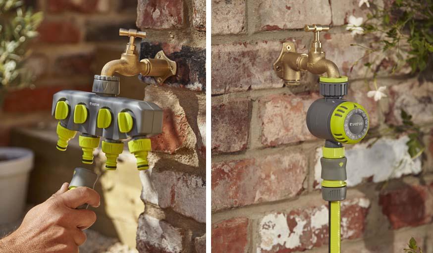 Connecteur de robinet 4 sorties VERVE / Programmateur d'arrosage mécanique VERVE