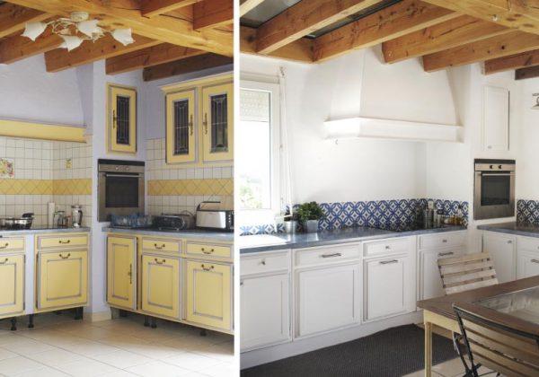cuisine provencale jaune et bleu. Black Bedroom Furniture Sets. Home Design Ideas