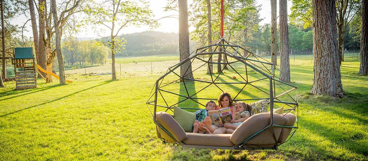 Une balançoire de rêve qu'on aimerait avoir dans le jardin