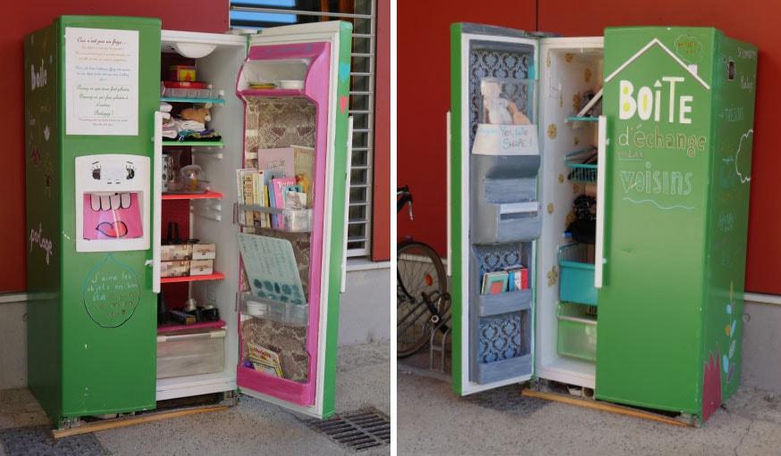 dons d objets livres les bo tes d change entre voisins se multiplient. Black Bedroom Furniture Sets. Home Design Ideas