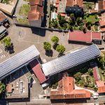 Vue aérienne de la ville de Carmaux.