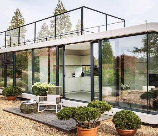 maison en prfabriqu simple maison en prfabriqu with maison en prfabriqu maison de plain pied. Black Bedroom Furniture Sets. Home Design Ideas