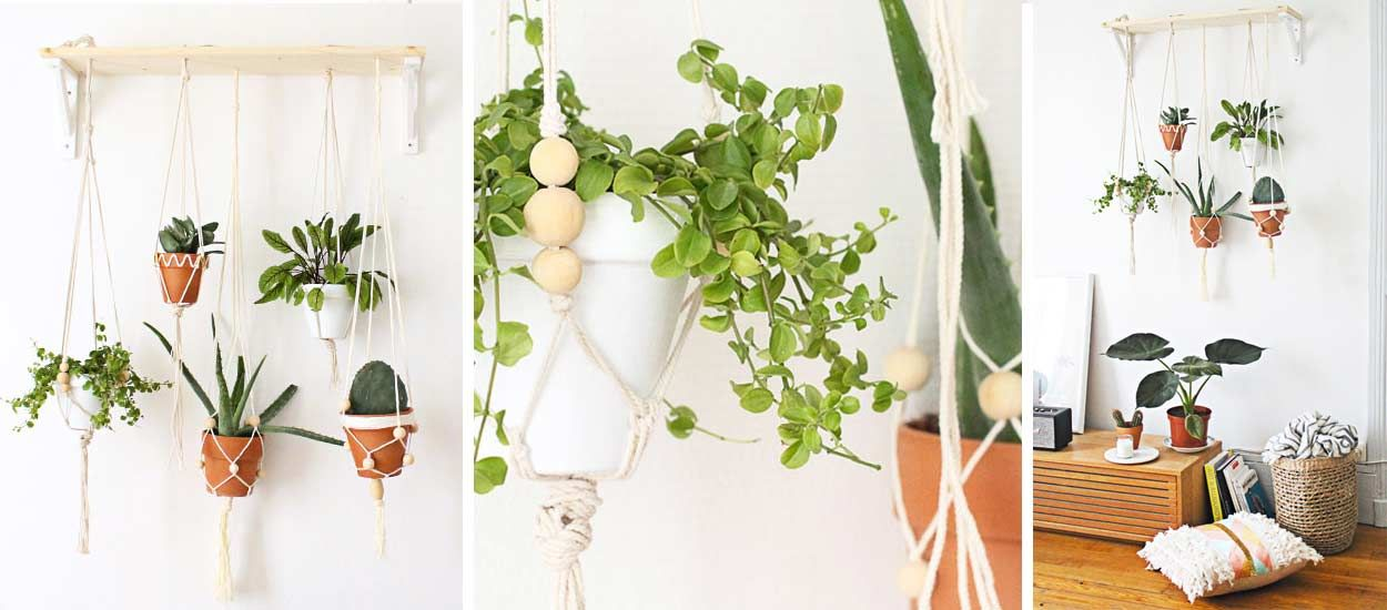 Tuto : Fabriquez un jardin suspendu en macramé
