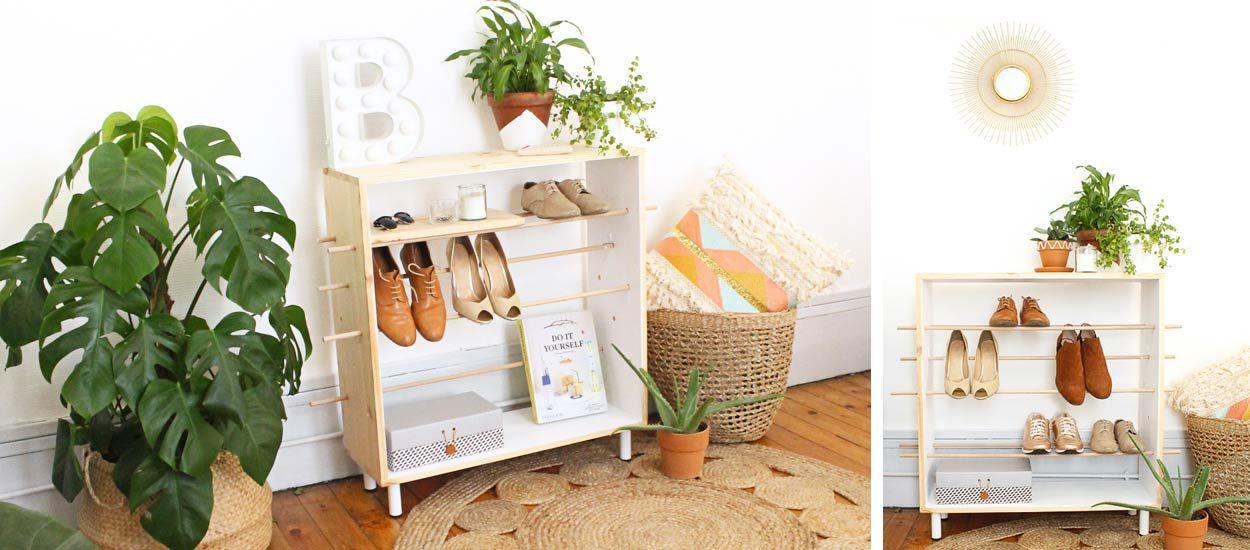 Tuto : Fabriquez un élégant meuble à chaussures pour votre entrée
