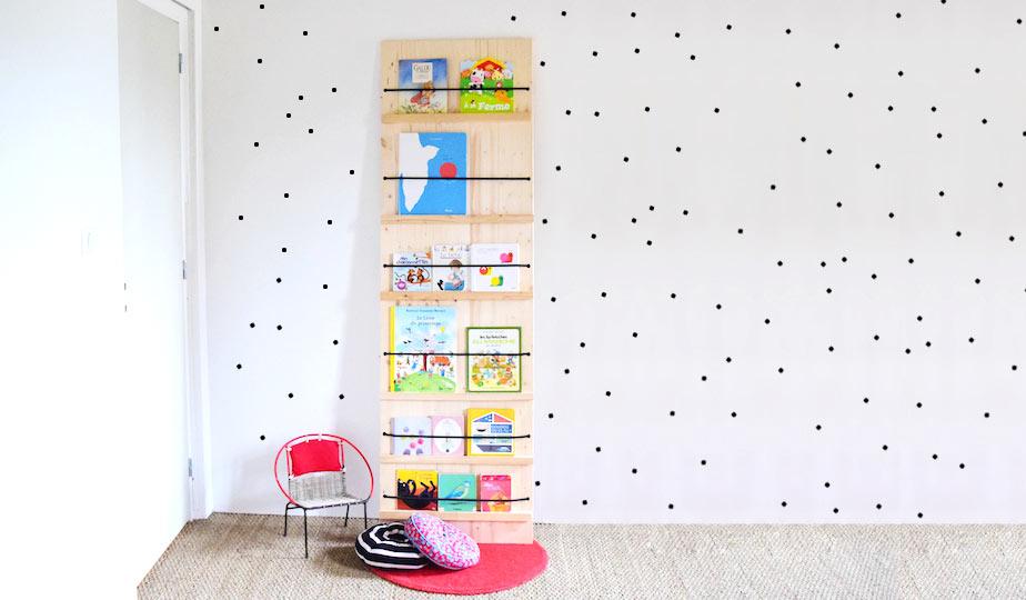 diy pour fabriquer un pr sentoir livres rangement des livres pour les enfants. Black Bedroom Furniture Sets. Home Design Ideas
