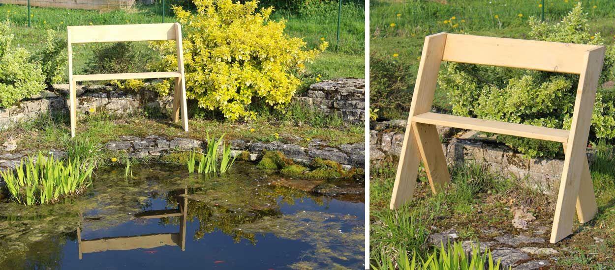 Tuto : Fabriquez un banc Léopold en bois pour votre jardin