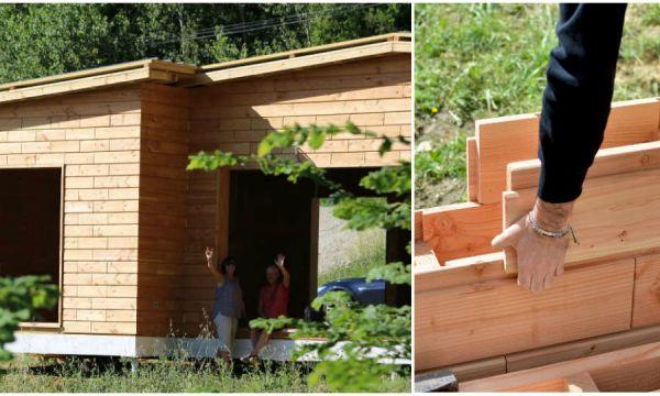Brikawood : une maison passive qui s'élève comme un jeu de construction