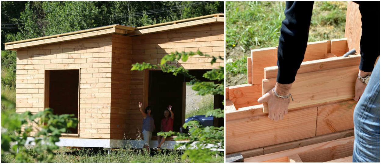 brikawood une maison passive en kit avec des briques de. Black Bedroom Furniture Sets. Home Design Ideas