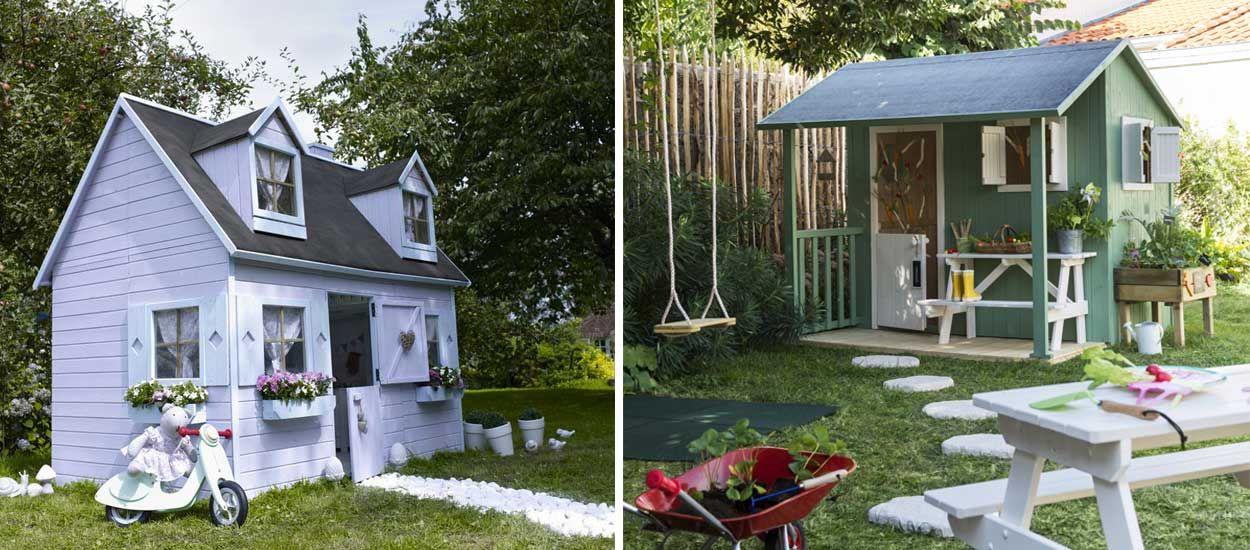6 jolies cabanes en bois pour enfant à installer dans le jardin