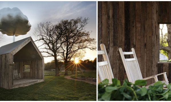 La Maison Nuage, la cabane qui imite la pluie et sensibilise à l'environnement