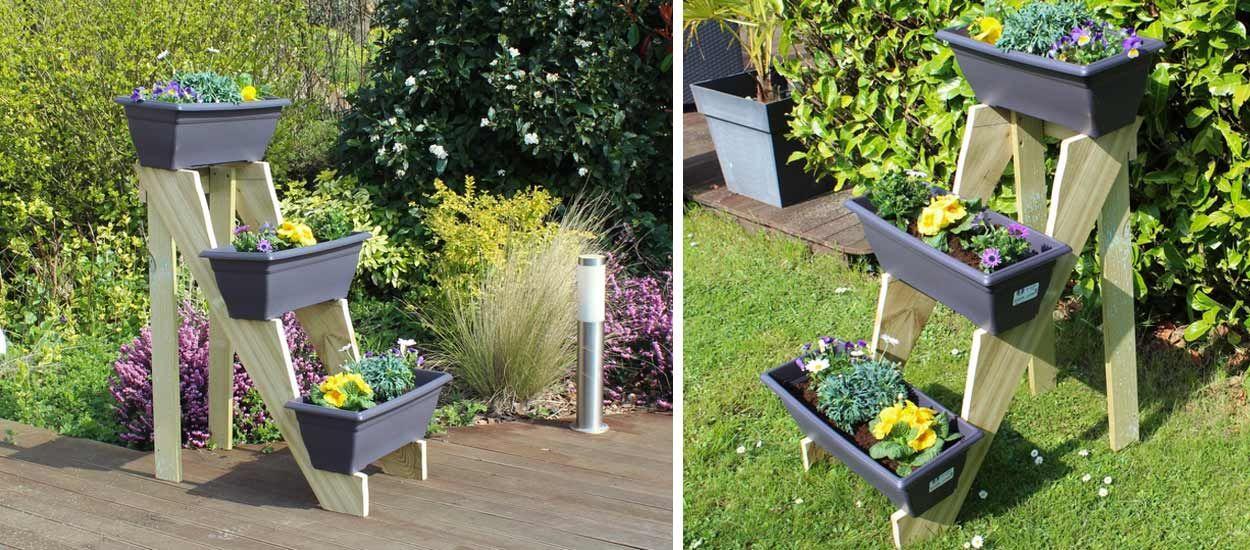 Tuto : Fabriquez un ensemble de jardinière en forme d'escabeau
