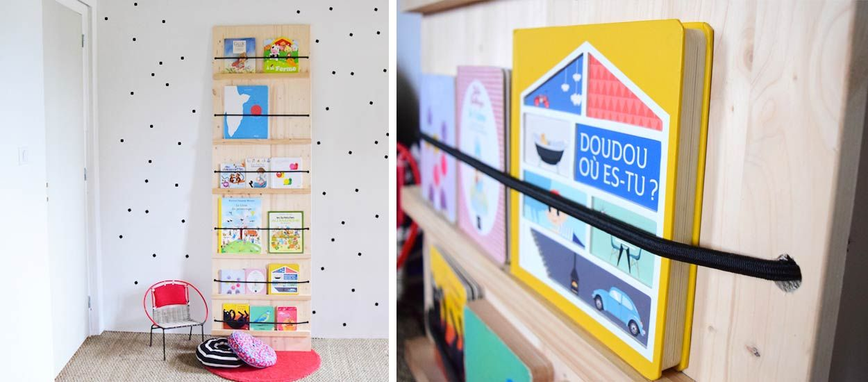 Tuto : Fabriquez un présentoir à livres pour petits et grands