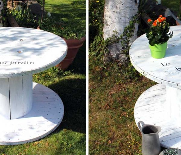 Tuto : Transformez un touret en table de jardin