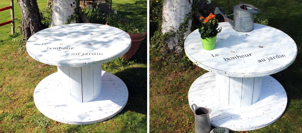 table basse touret bois fabulous table basse verre fer forge table basse avec palette en bois. Black Bedroom Furniture Sets. Home Design Ideas