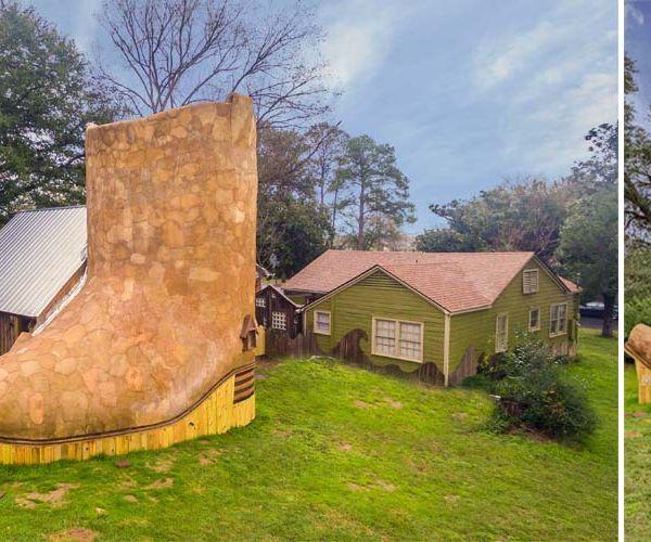 Une maison écolo en forme de santiag... pourquoi pas, si ça vous botte !