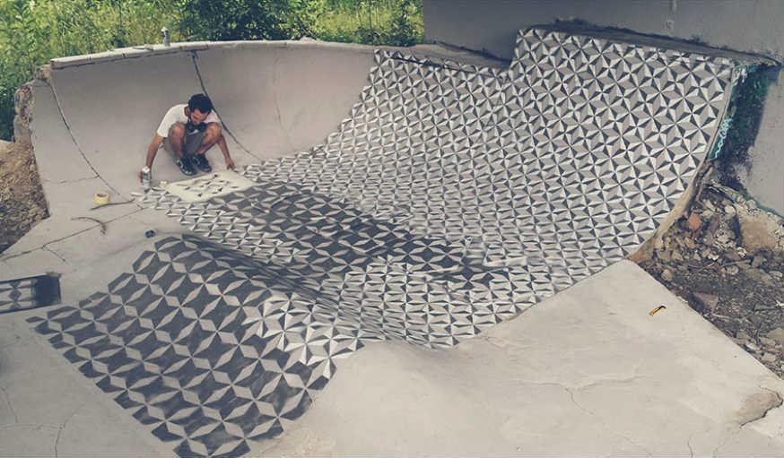 Un ancien skatepark