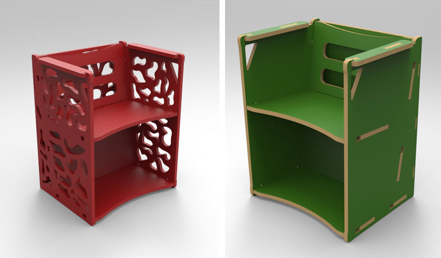 un fauteuil multifonction fabriquer en fablab diy pour makers. Black Bedroom Furniture Sets. Home Design Ideas
