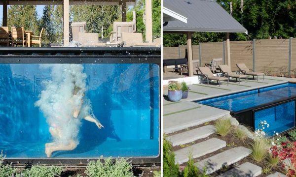 Cette piscine transparente donne envie de se jeter à l'eau