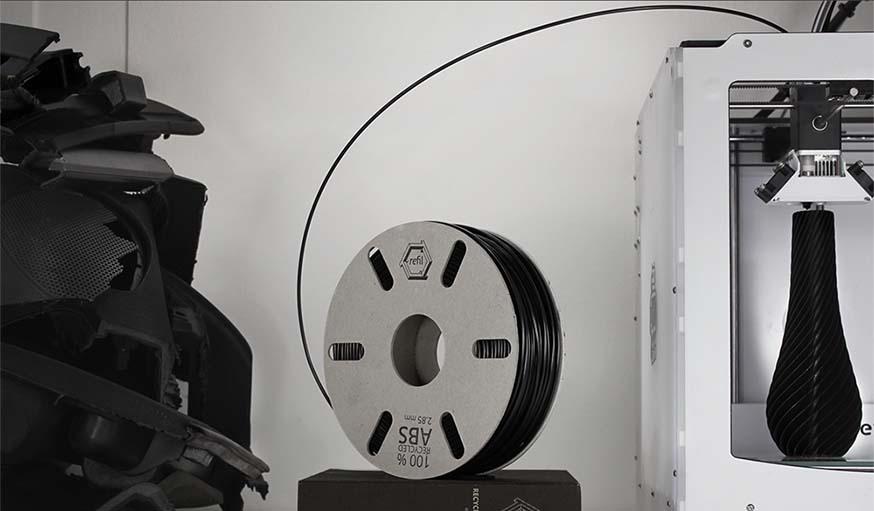 refil du filament 3d en plastique recycl fil pour imprimante 3d recycl. Black Bedroom Furniture Sets. Home Design Ideas