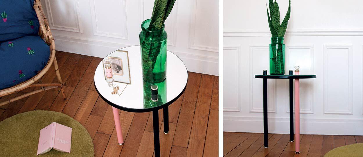 Tuto : Fabriquez une table d'appoint Art déco avec un miroir
