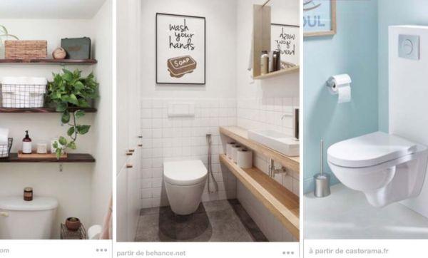 13 idées bien pensées pour optimiser le rangement dans les toilettes