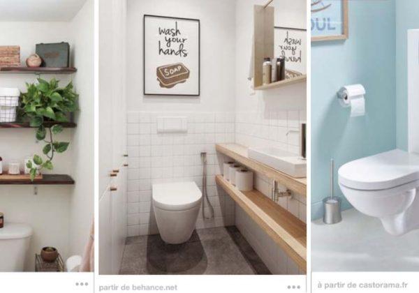 13 astuces de rangement dans les toilettes: étagère DIY ...