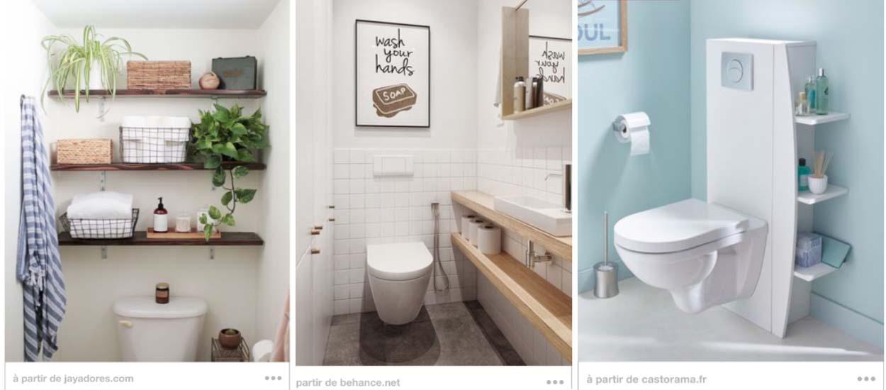 13 astuces de rangement dans les toilettes: étagère DIY, placards ...