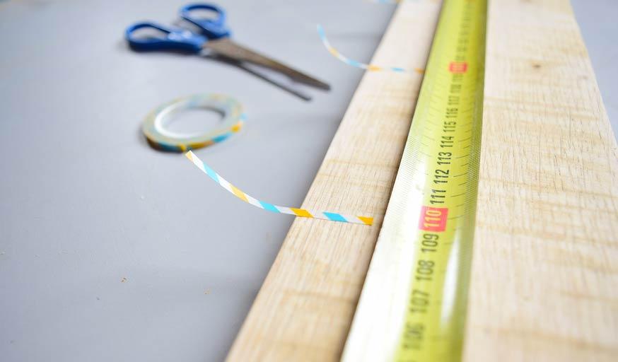 Tuto Toise Chambre Enfant : Toise en bois À fabriquer idée intéressante pour la