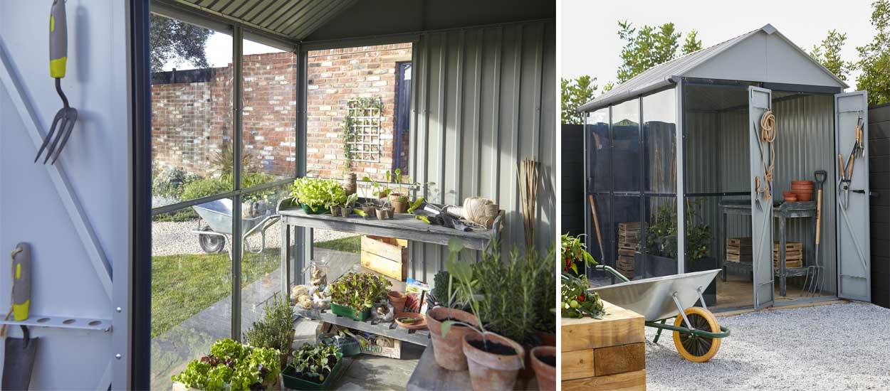castorama l 39 abri de jardin blooma indus est aussi une serre. Black Bedroom Furniture Sets. Home Design Ideas