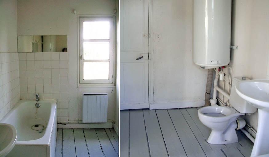 La salle de bain avant les travaux.