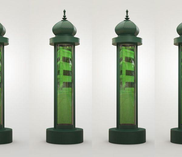 Des micro-algues dans le mobilier urbain pour dépolluer l'air des villes