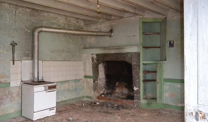 La cuisine avant.