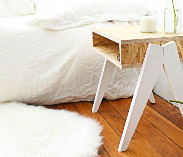 Tuto : Fabriquez une jolie table de nuit avec des pieds originaux