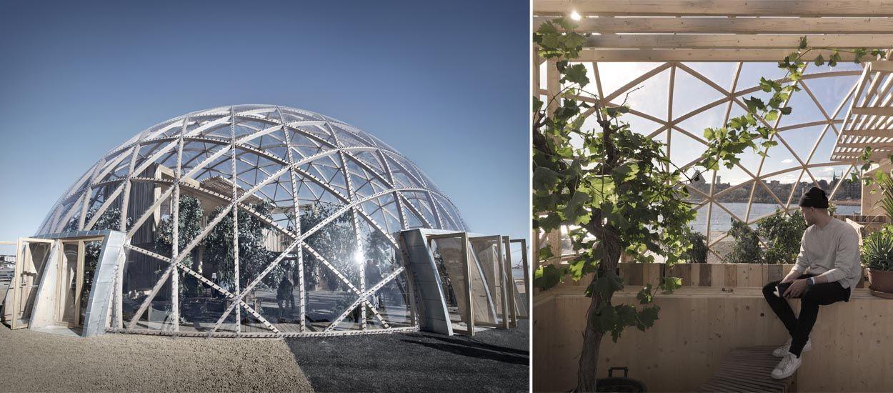 Avec ce dôme, un architecte expérimente la maison durable de demain