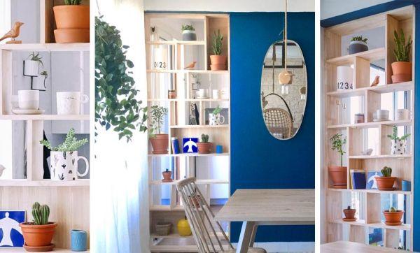 Tuto : un encadrement de porte devient une superbe étagère bibliothèque