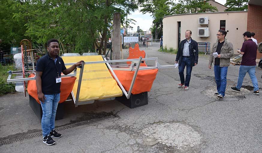 Mansoibou Baco, l'un des bénévoles qui a participé au développement de Toulouse Clean-Up.